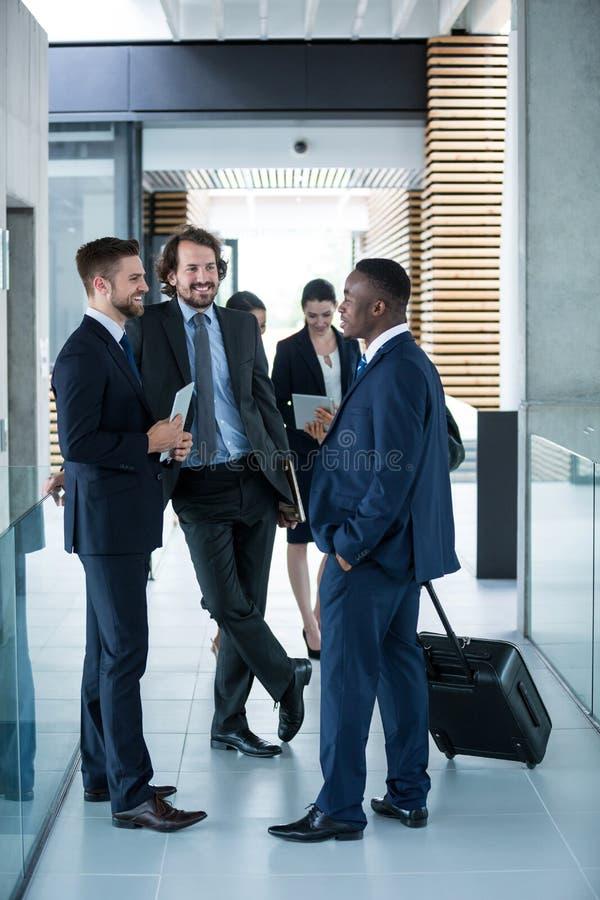 Hombres de negocios que tienen una conversación fotos de archivo libres de regalías