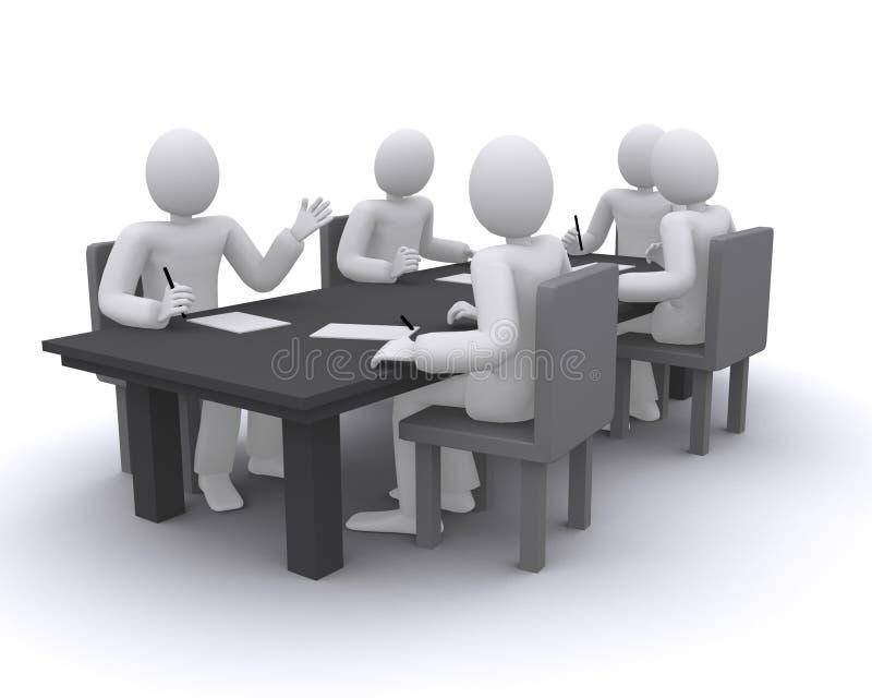 Hombres de negocios que trabajan en la reunión ilustración del vector