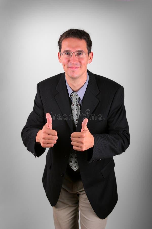 Hombres de negocios satisfechos fotos de archivo libres de regalías