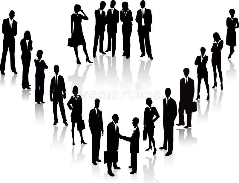 Hombres de negocios - silueta del vector libre illustration