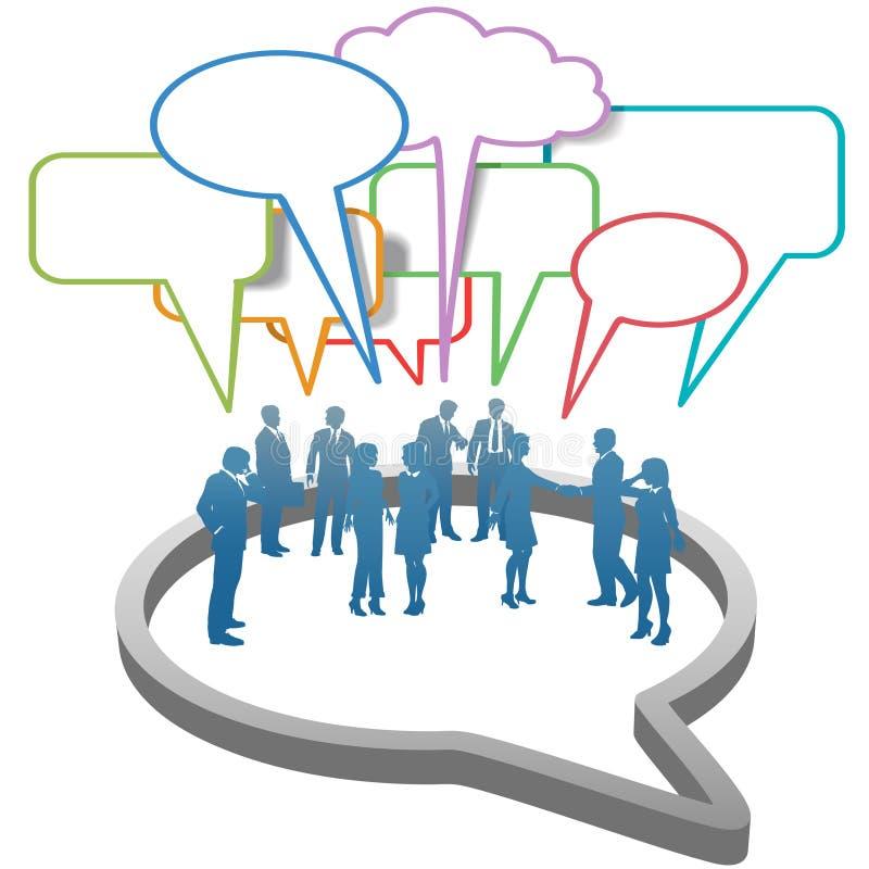 Hombres de negocios sociales de la red dentro del discurso libre illustration