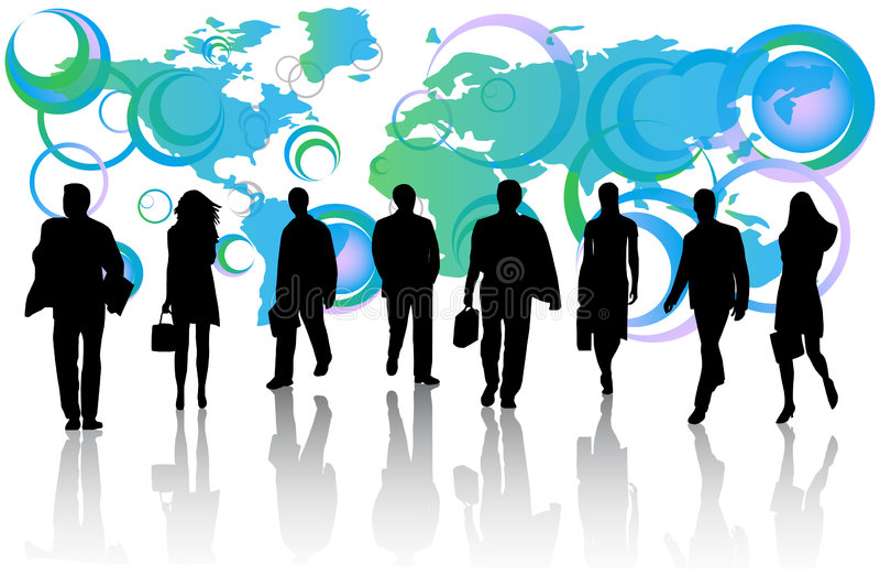 Hombres de negocios y correspondencia stock de ilustración