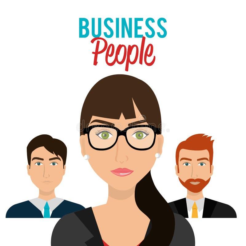 Hombres de negocios y empresario stock de ilustración