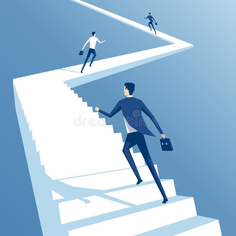Hombres de negocios y escaleras stock de ilustración