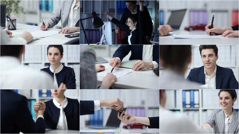 Hombres de negocios y forma de vida imagenes de archivo