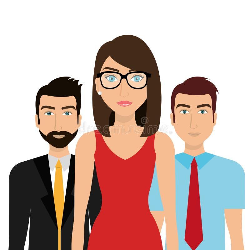 Hombres de negocios y trabajo en equipo ilustración del vector