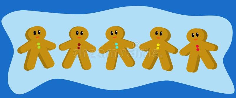 Hombres de pan de jengibre libre illustration