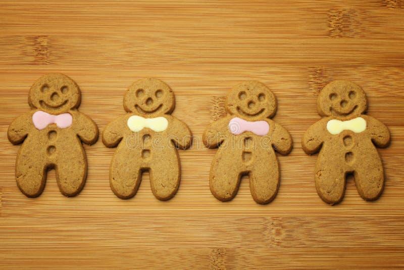 Hombres de pan de jengibre de la Navidad foto de archivo libre de regalías