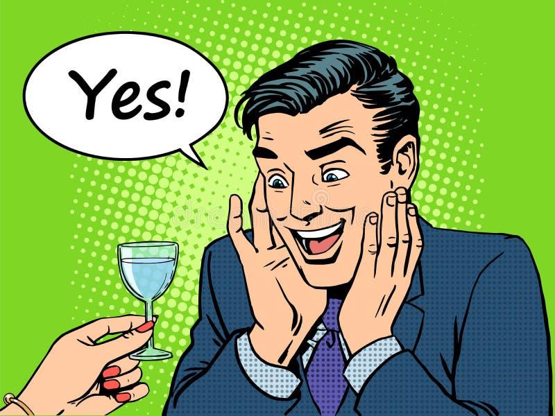 Hombres del alcohólico de la alegría ilustración del vector