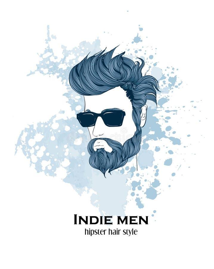 Hombres del indie libre illustration