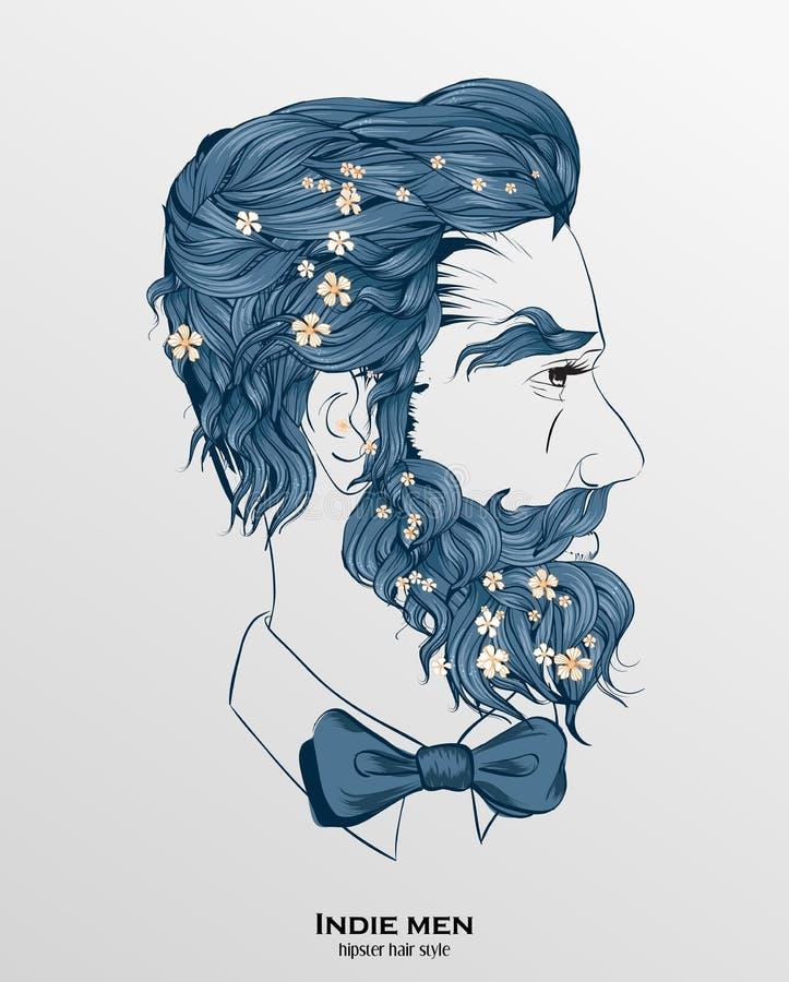 Hombres del indie stock de ilustración