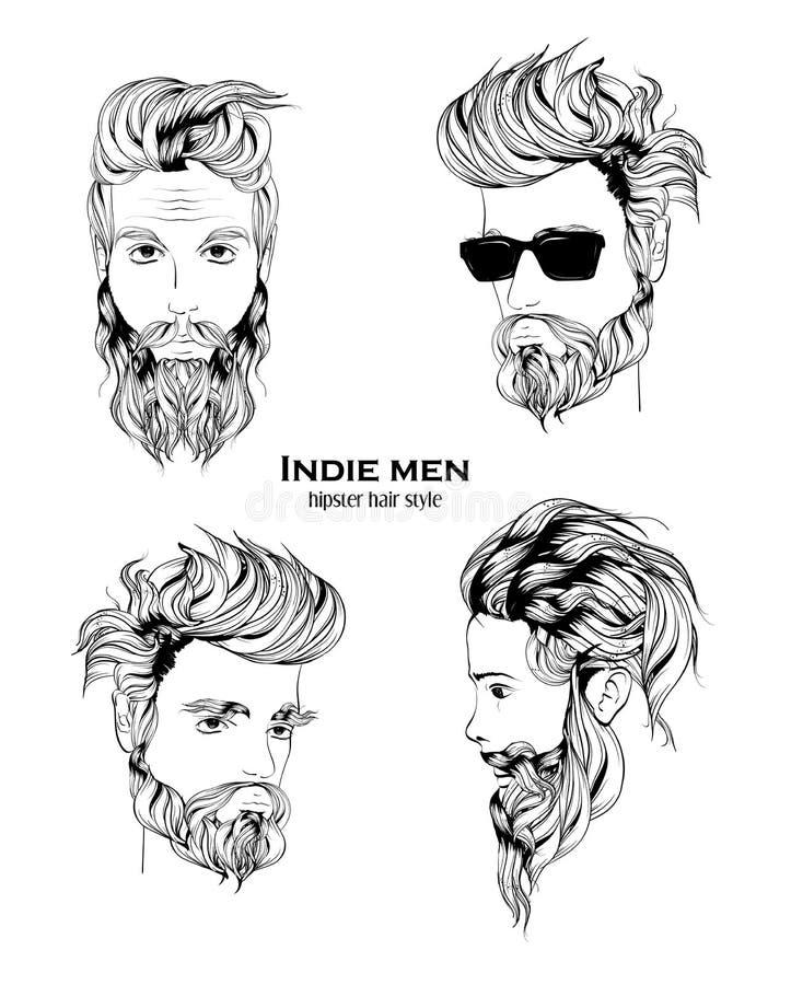 Hombres del indie ilustración del vector