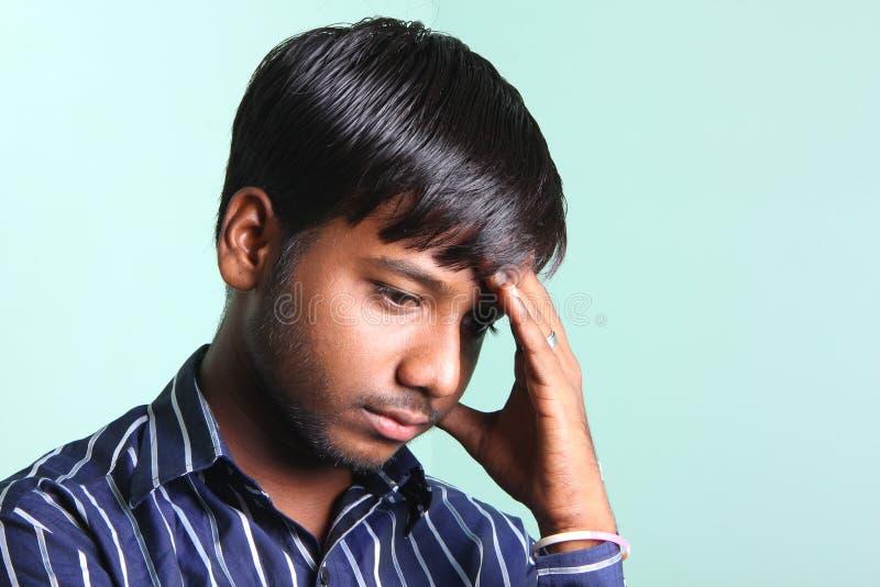 Hombres del indio de Dipressed foto de archivo libre de regalías
