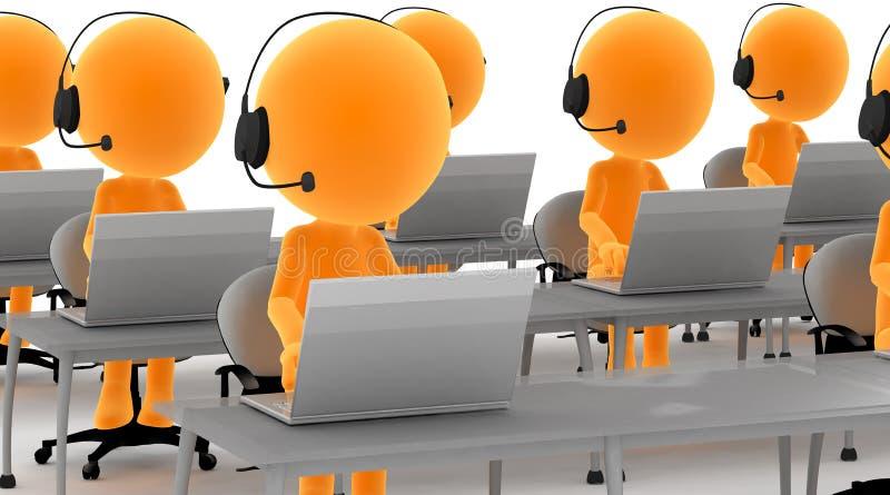 Hombres del oro 3d con los receptores de cabeza libre illustration