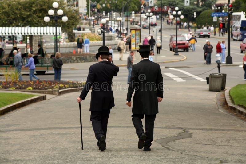 Hombres del sombrero superior imagen de archivo libre de regalías