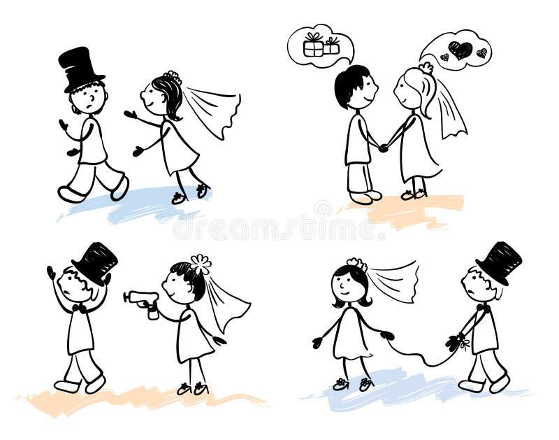 Hombres divertidos - boda libre illustration
