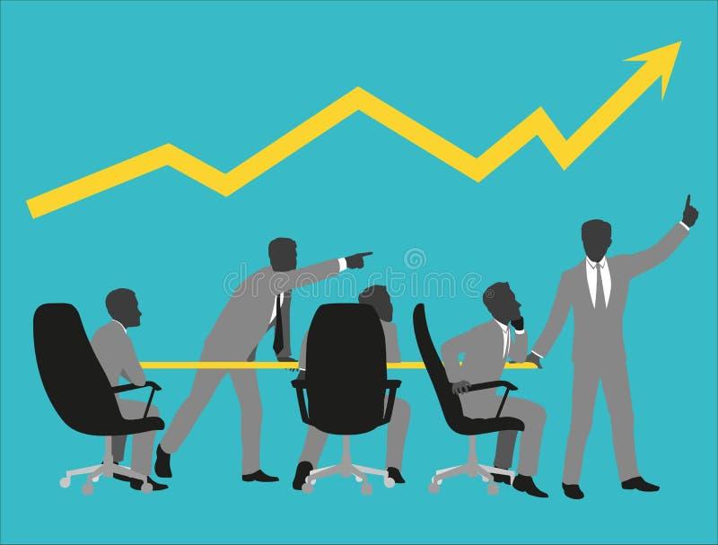 Hombres en juego en la reunión de negocios ilustración del vector