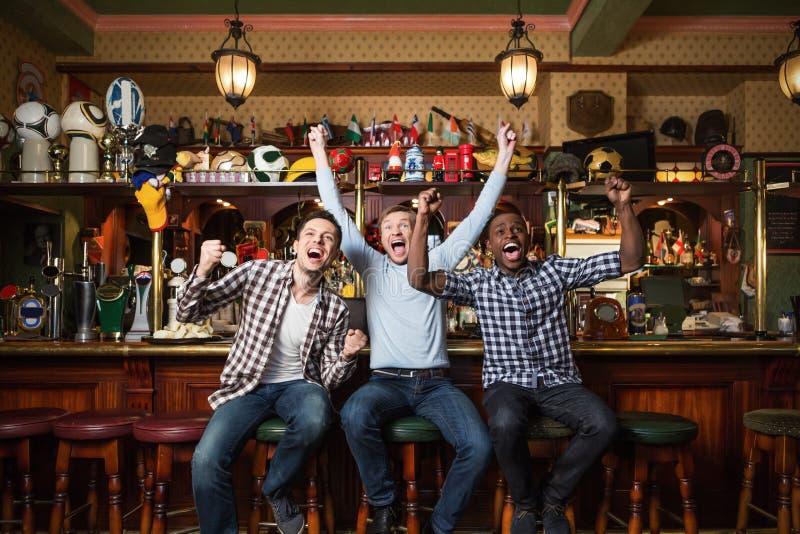 Hombres felices imagen de archivo libre de regalías