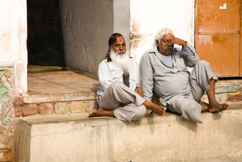 Hombres hindúes indios imagen de archivo libre de regalías