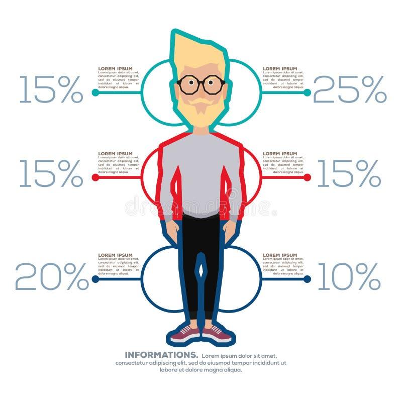 Hombres infographic libre illustration