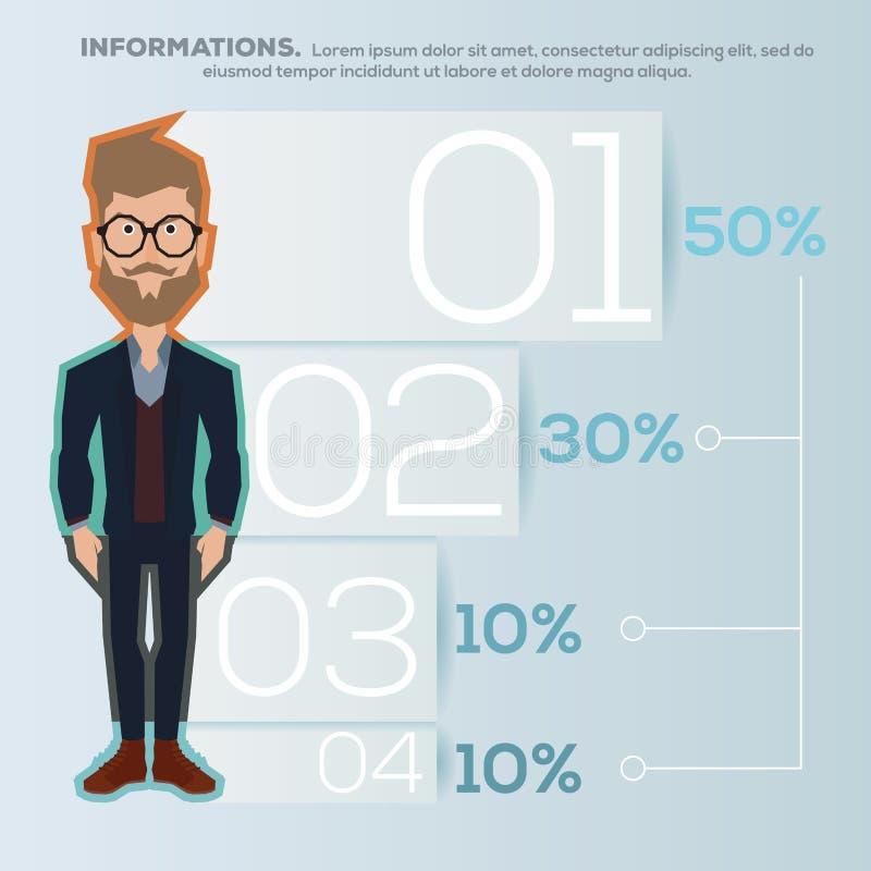 Hombres infographic ilustración del vector