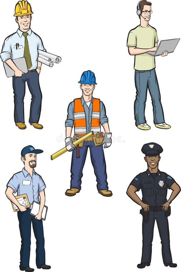 Hombres profesionales libre illustration