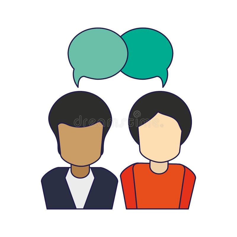 Hombres que hablan al avatar libre illustration