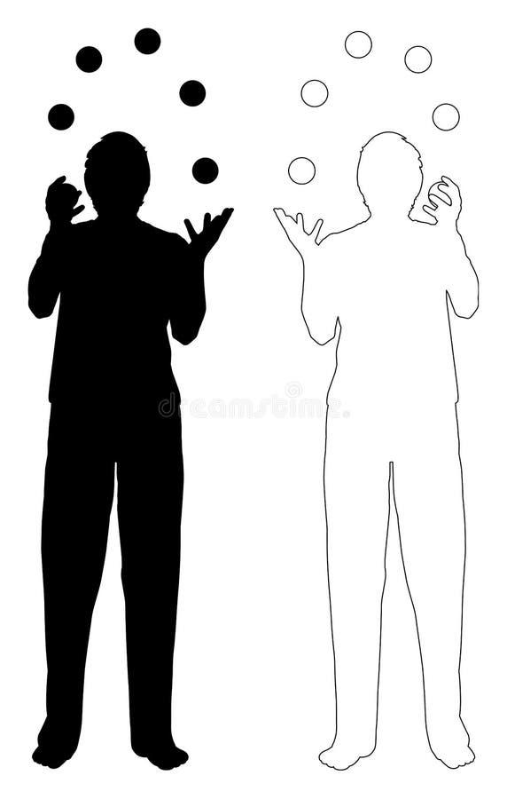 hombres que hacen juegos malabares libre illustration