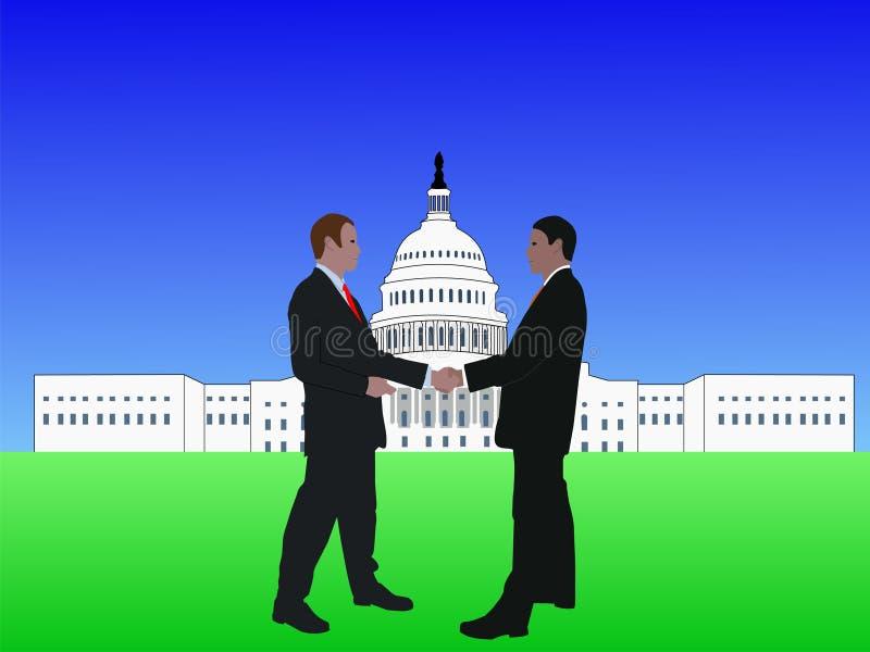 Hombres que se encuentran en Washington DC stock de ilustración