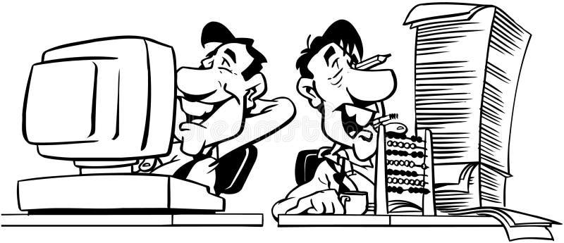 Hombres que trabajan el vector Clipart del diseño de la historieta libre illustration