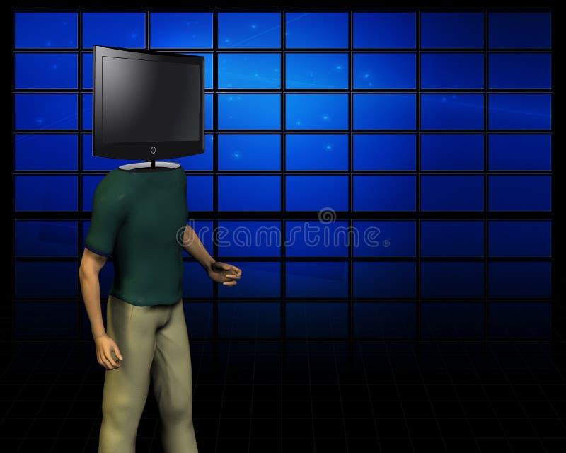 Hombres video libre illustration