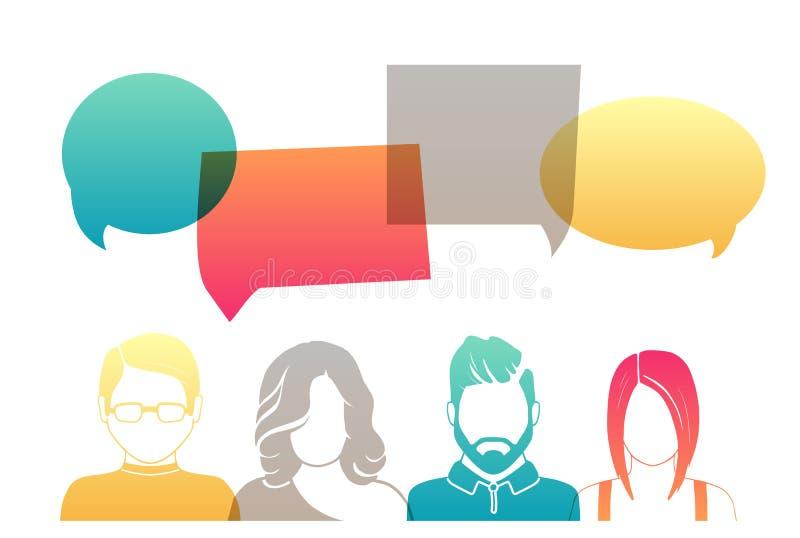 Hombres y mujeres stock de ilustración