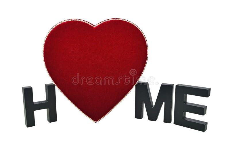 A HOME é o lugar onde o coração está fotografia de stock royalty free