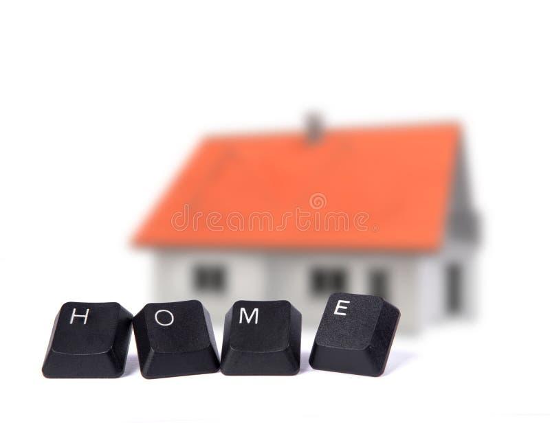 HOME imagem de stock