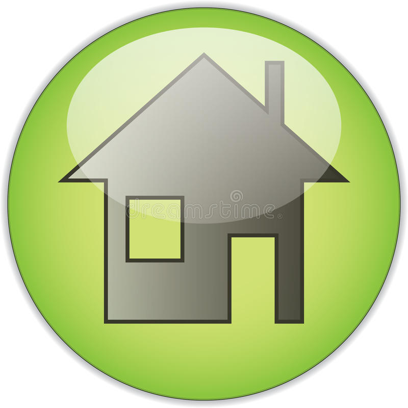 Download Home stock illustration. Image of button, green, house - 14751812