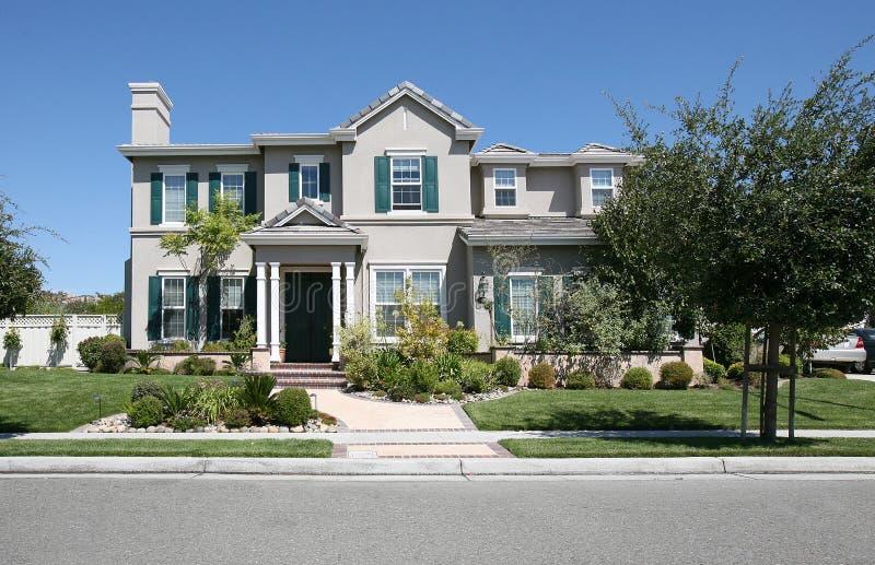 Download Home stock image. Image of suburban, stucco, home, window - 1710431