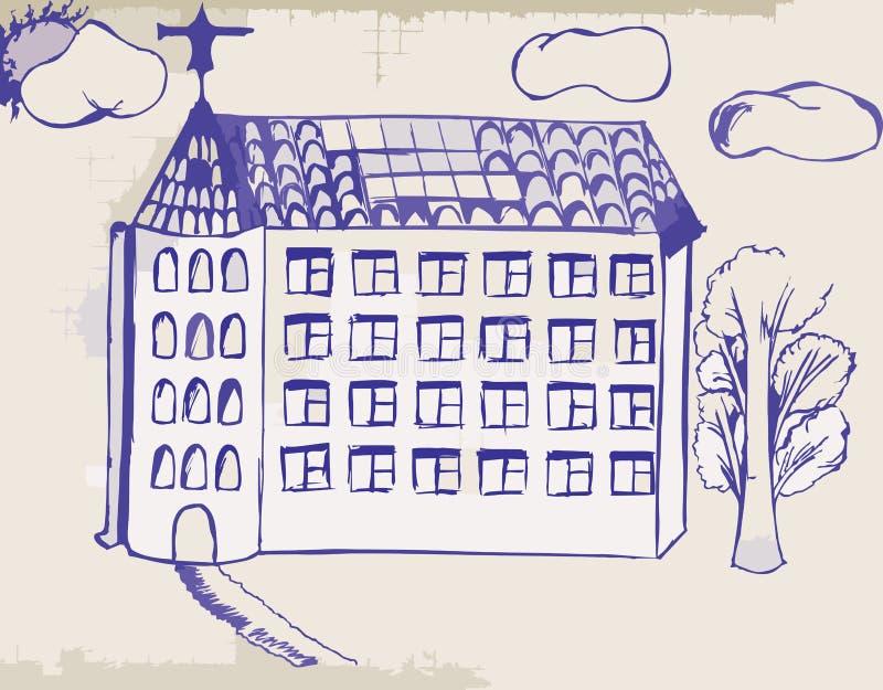 Download Home stock illustration. Illustration of abandoned, spruce - 18208845