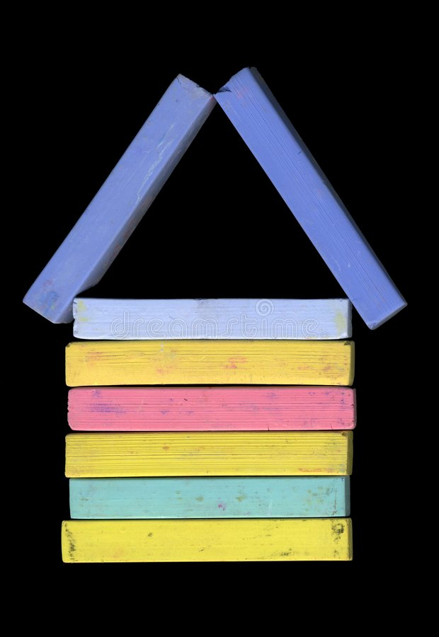 Home. Symbol for a Home of Pastel Chalk stock image