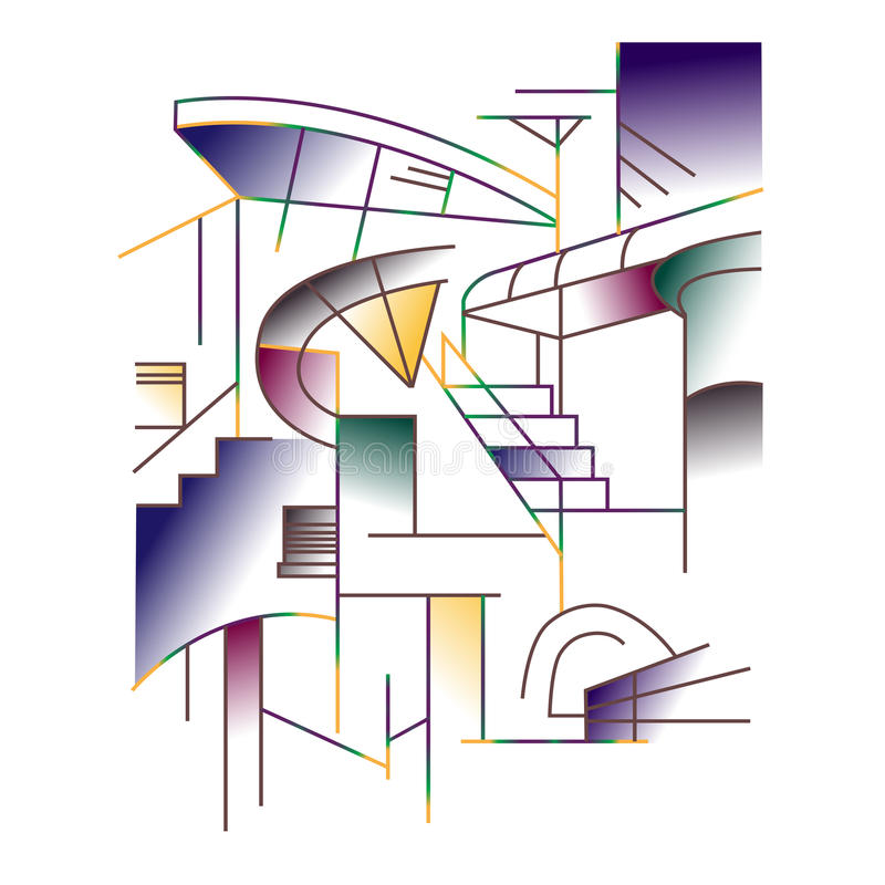 Home abstract stock illustration