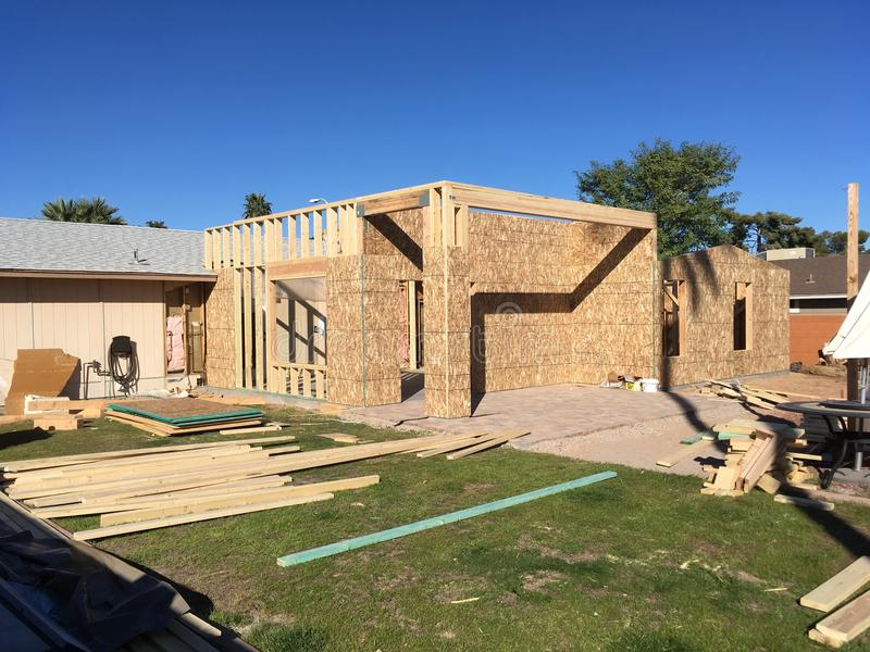 Home Addition Framing Building Erection stock photos