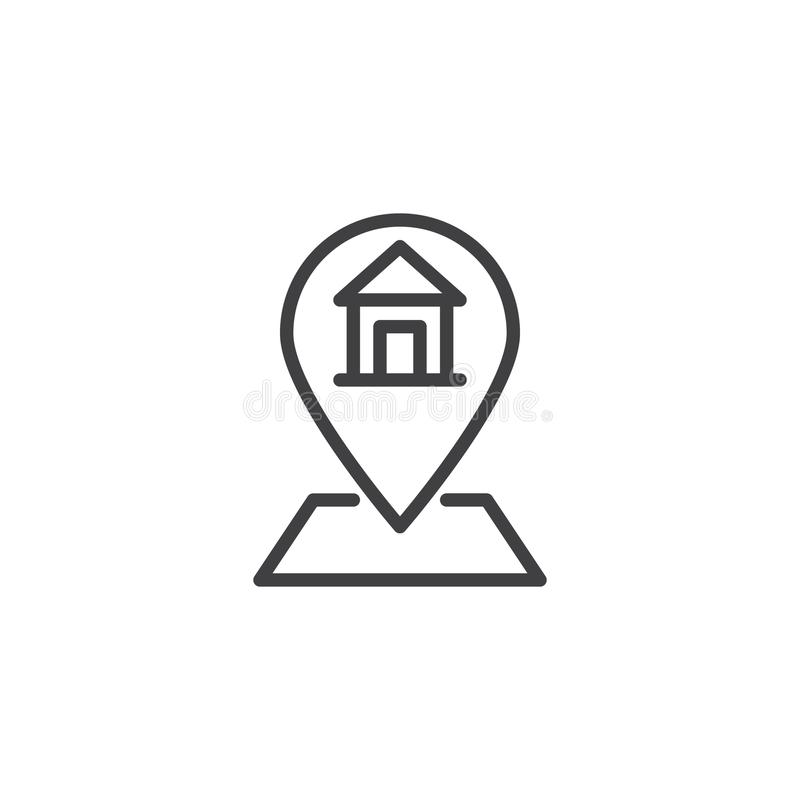 Home address outline icon stock illustration