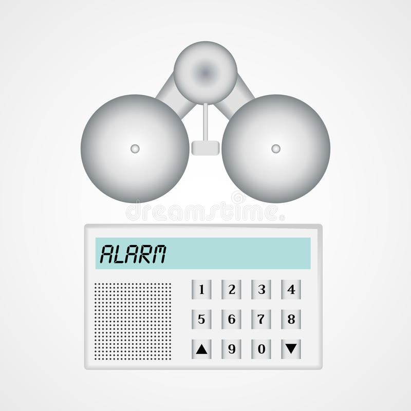 Home alarm security system. vector illustration
