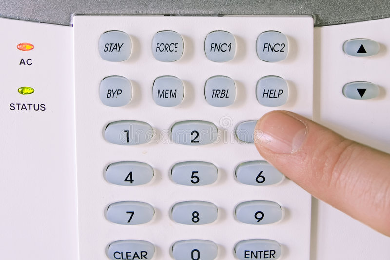 Home alarm system royalty free stock photo