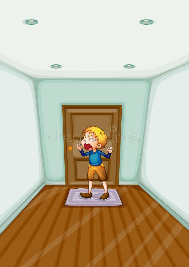 Download Home alone stock illustration. Image of human, building - 25266165