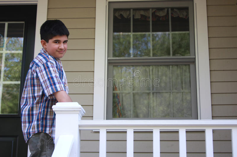 Home Alone Teenager stock photography