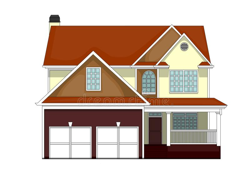 Home in the American style royalty free stock photos
