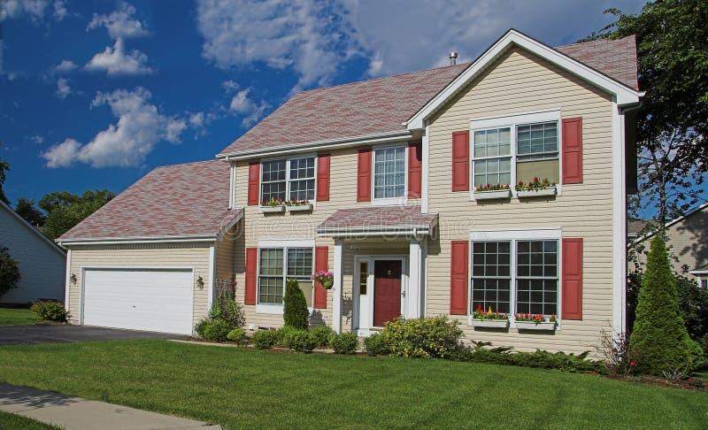 HOME americana suburbana imagens de stock royalty free