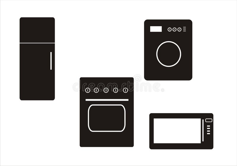 Download Home-appliance stock vector. Image of kitchen, home, refrigerator - 8430147