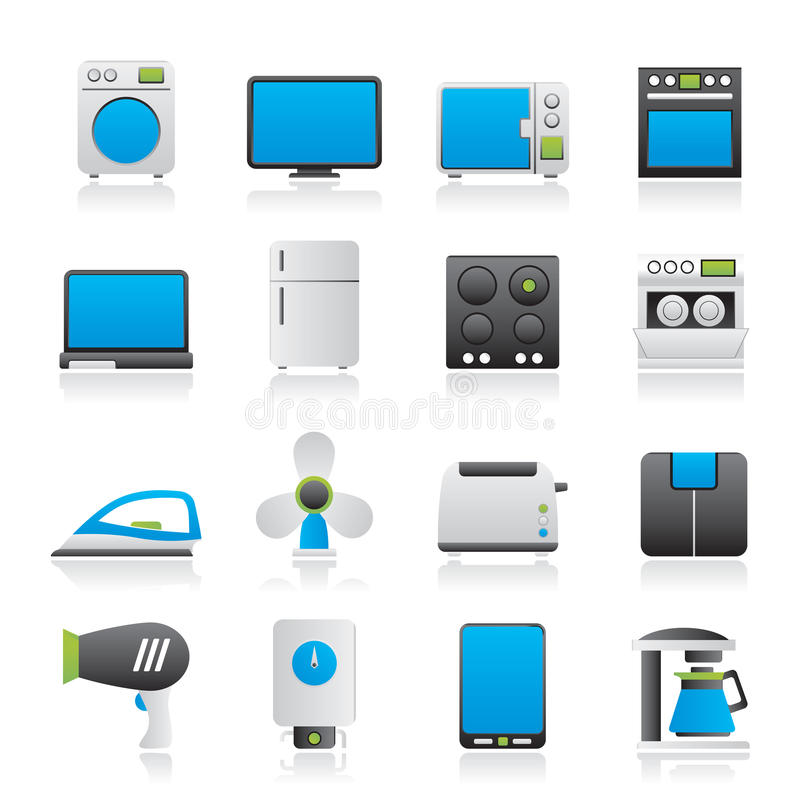 Free Home Appliance Icons Stock Photo - 42465790