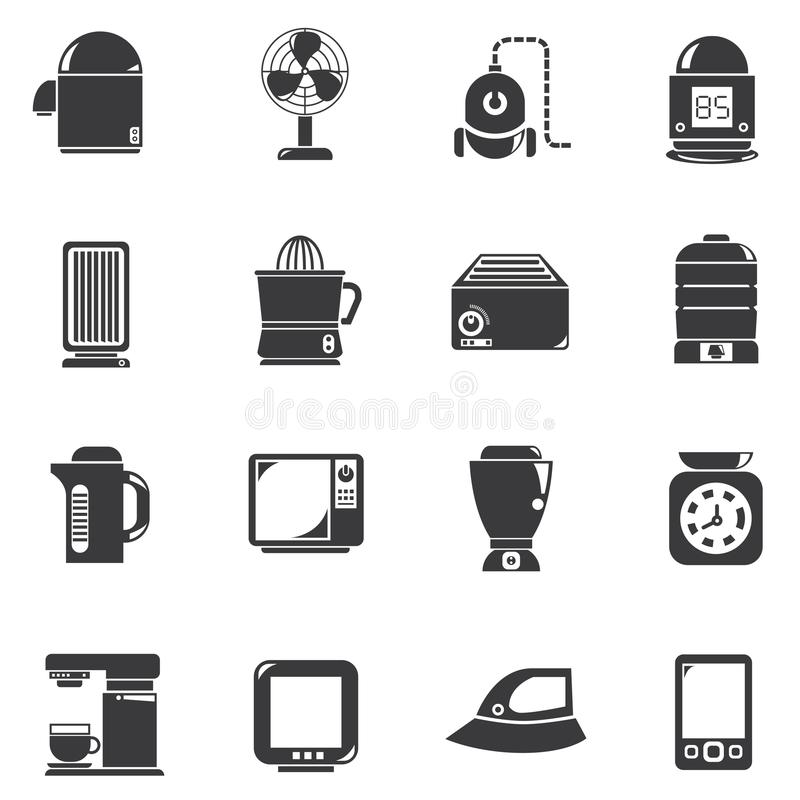 Home appliance icons stock illustration